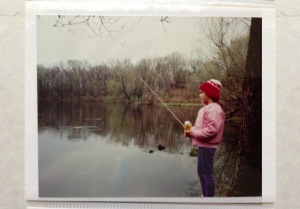 Trying to catch a fish  at Sites Lake near Mansfield, Ohio in 1989!
