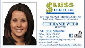 Stephanie Webb, Realtor with Sluss Realty in Mansfield, Ohio