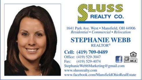 Stephanie Webb, Real Estate Agent with Sluss Realty in Mansfield, Ohio