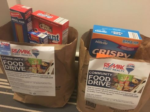 Remax First Realty - Food Drive - Mansfield,Ohio Real Estate Agents - Harmony House Food Drive 2016